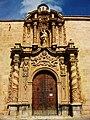 Portada barroca lateral, església de sant Jaume Apòstol d'Oriola.JPG