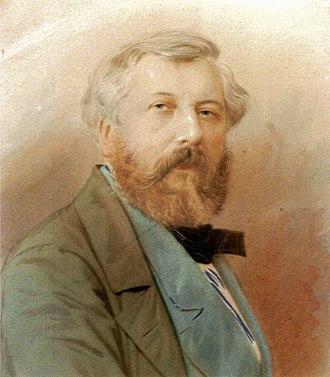 Édouard Desplechin - Portarit of Édouard Desplechin (1851), anonymous.