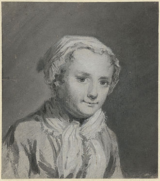 Sara Troost - Portrait of Sara Troost by her father Cornelis Troost