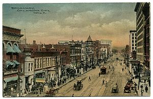 History of Oklahoma City - Broadway, about 1910