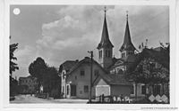 Postcard of Ljubljana, Polje church.jpg