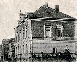Bertelsmann Stiftung - Reichsbank branch in Gütersloh (historical postcard motif)