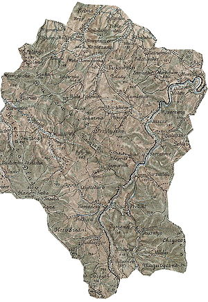 Radoszyce, Podkarpackie Voivodeship - Gerichts-Bezirk ( Bukowsko Rural Commune) bis 1918. An 1898 map shows the location of Radoszyce (click in it to enlarge)