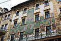 Prague Praha 2014 Holmstad fasade U Novaku i Vodickova Street mosaikk jugend art nouveau architecture nybyen mosaic flott.jpg