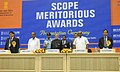 Pranab Mukherjee at the SCOPE Meritorious Awards in Specialized fields to the Central Public Sector Enterprises in New Delhi. The Union Minister for Heavy Industries and Public Enterprises.jpg
