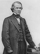 President Andrew Johnson standing