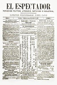 Primera edición de El Espectador (22 mar. 1887).jpg