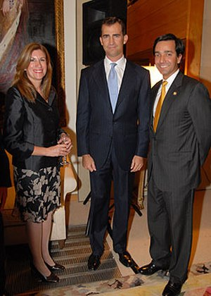 Spanish settlement of Puerto Rico - Felipe VI of Spain and Fortuño with his Spanish wife.