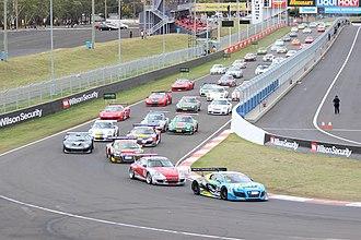 Bathurst Motor Festival - The start of a one-hour Production Sports car race at the 2015 Bathurst Motor Festival.