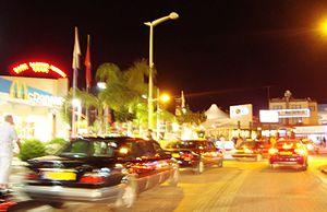 Paralimni - Protaras street by night