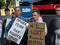 Protest against Russia's banning of Moscow Gay Pride 2011.jpg