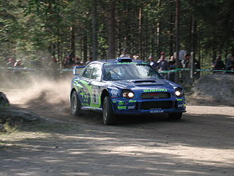 Petter Solberg - Solberg at the 2001 Rally Finland.