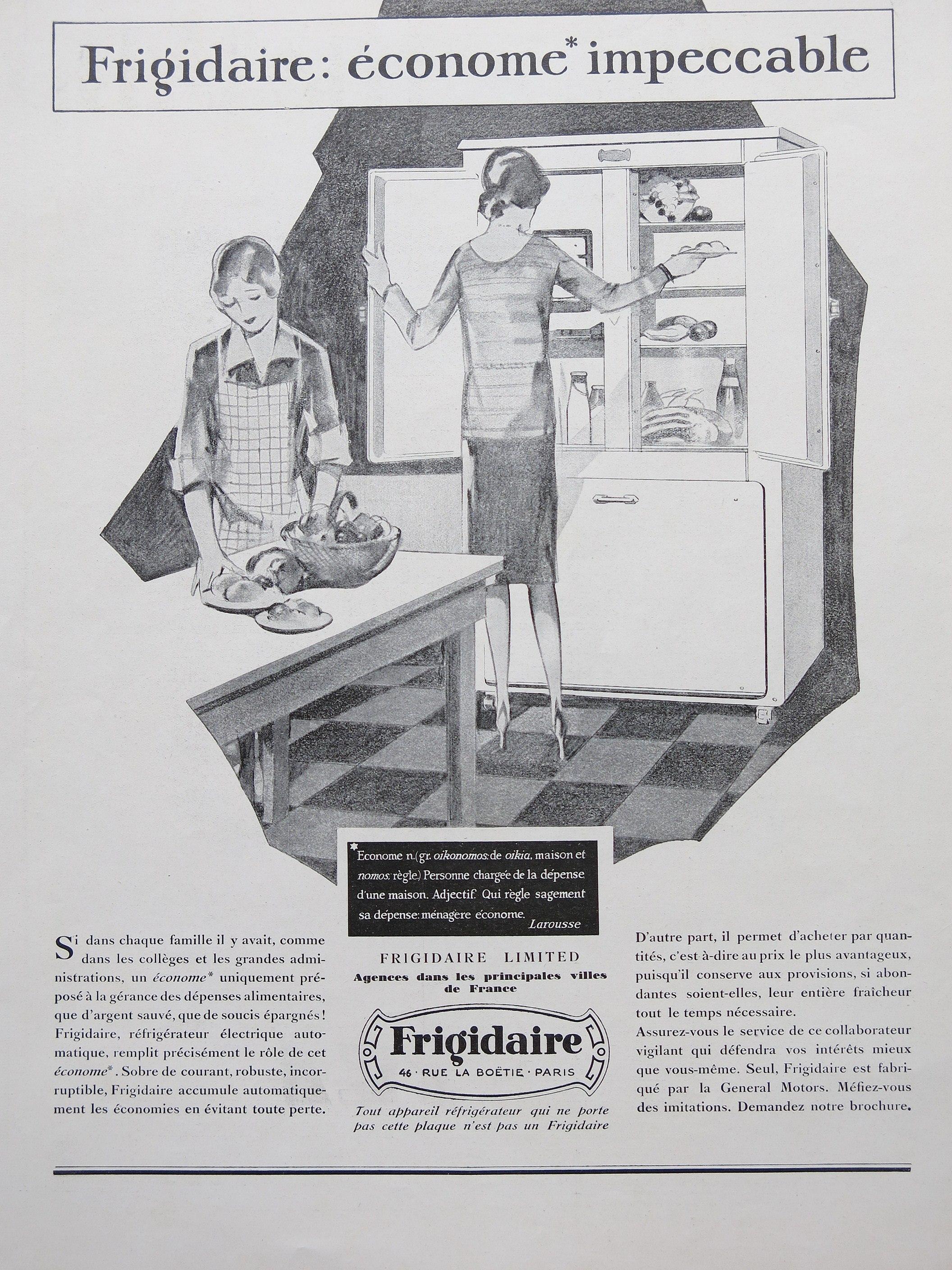 Www Un Temps Pour Elles Com file:publicité pour frigidaire (1929) - wikimedia commons