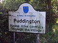 Puddington sign, Puddington Lane.JPG