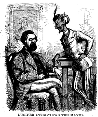 Mayor Hall(英语:A. Oakey Hall) and Lucifer,作者未知(1870)