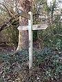 Pymmes Brook Trail sign near Folly Bridge, Monken Hadley Common.jpg