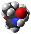 Pyrithyldione molecule spacefill from xtal.png