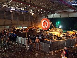 Q-dance - Q-Base tent under construction.
