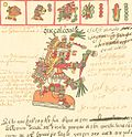Quetzalcoatl as depicted in the Codex Telleriano-Remensis
