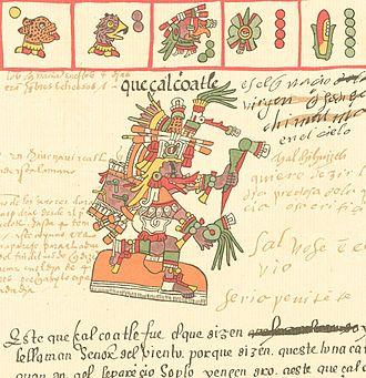 Quetzalcoatl - Quetzalcoatl as depicted in the Codex Telleriano-Remensis