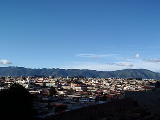 Quetzaltenango - Skyline of Quetzaltenango from the surrounding mountainside in 2009.