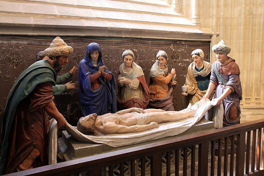 La mise au tombeau du Christ.