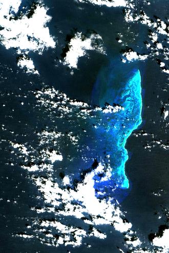 Quita Sueño Bank - Landsat image of Quita Sueño Bank