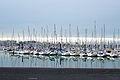 Réflection de voiliers sur la mer (1).JPG