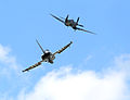 RAF Typhoon with WWII Spitfire MOD 45157537.jpg