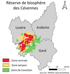 les-cevennes-carte-geographique - Photo