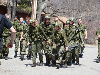 Recruit training - Royal Military College of Canada cadets compete in the prestigious Sandhurst Competition