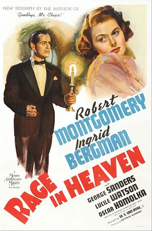 Rage in Heaven - Theatrical release poster