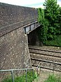 Railway bridge with access steps, Risby - geograph.org.uk - 1401880.jpg