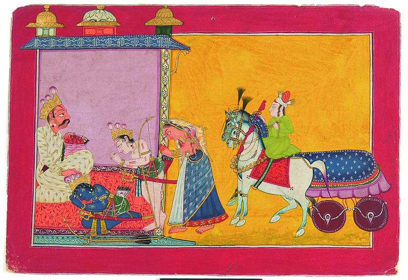 File:Rama taking leave of Dasharatha.jpg
