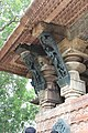Ramappa Temple- Pillars supported with carvings.jpg