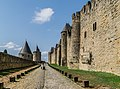 Ramparts of the historic fortified city of Carcassone 03.jpg