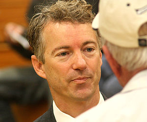 Rand Paul campaigning in Kentucky.