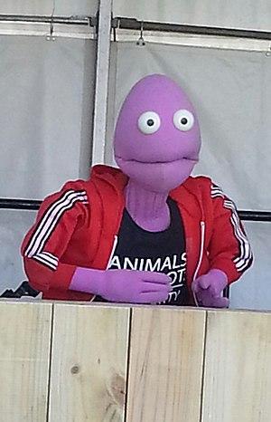 Randy Feltface - Randy at the 2015 Vegan Festival in Adelaide.