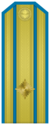 Rank insignia of Майор of the Bulgarian Air forces.png