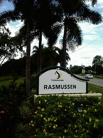 Rasmussen, Queensland - Image: Rasmussen Queensland sign