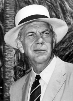 Raymond Massey - Massey in a publicity photo for Adventures in Paradise, May 1961