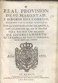 Real Provision de su Magestad y Señores del Consejo, declarando varias dudas propuestas por la Universidad de Salamanca (IA A11313658).pdf