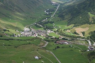 Realp - View of Realp from above