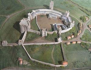 Pontefract Castle - Model reconstructing Pontefract Castle