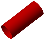 A finite cylinder is a manifold with boundary.