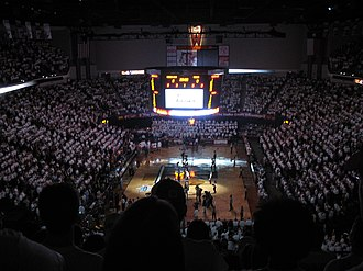 Texas A&M Aggies - Player introductions during the 2007 Lone Star Showdown at Reed Arena