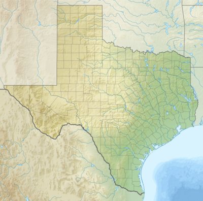 Location map Texas