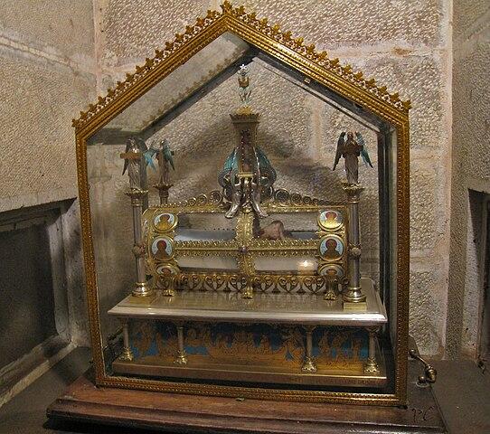 Реликварий-саркофаг в Сен-Боме