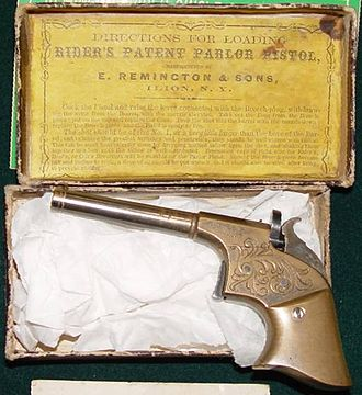 Remington Arms - Remington-Rider Single Shot Deringer. Made c. 1860-1863