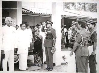 Renuka Herath - Image: Renuka Herath and President Ranasinghe Premadasa